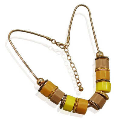 Necklace Merel -yellow-