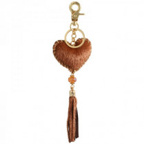 Key ring Hart -light brown-