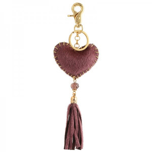Key ring Hart -purple-