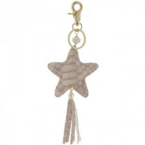 Key ring Ster -taupe-