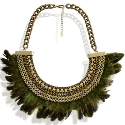 Necklace Bowie -green-