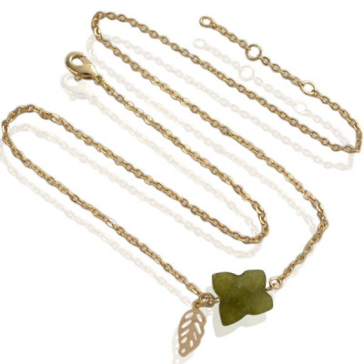 Necklace Butterfly -green-