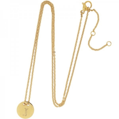 Necklace Coin J -gold-