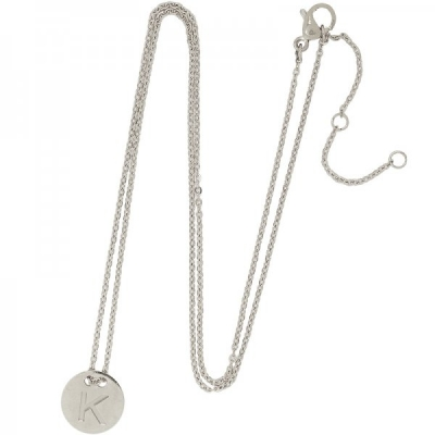 Necklace Coin K -silver-