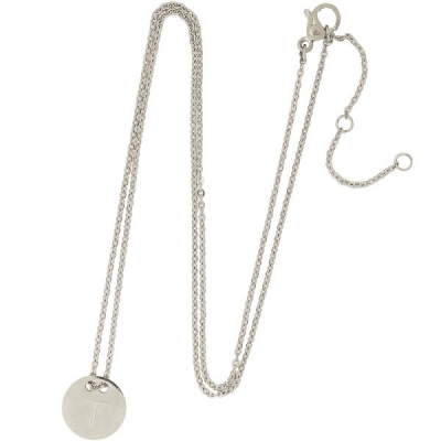 Necklace Coin T -silver-