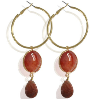Earrings Kest -red-
