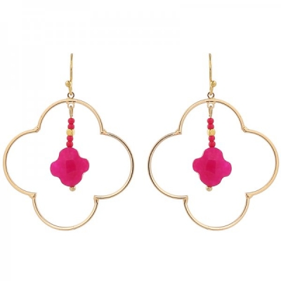 Earrings Lucky -pink-