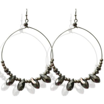 Earrings Sliver -grey-