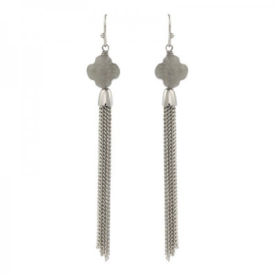 Earrings Susan -gray-