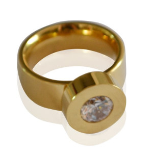 Ring Gold-Colored #18
