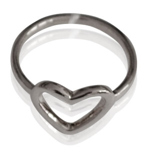 Ring Heart #16 -zilver-