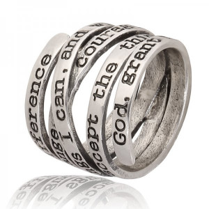 Ring Text -zilver - #18
