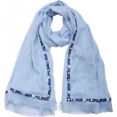 Scarf Camou -blue-