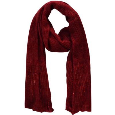 Scarf Sequins Red