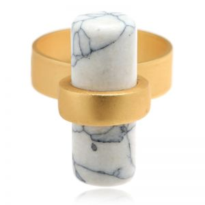 Ring Marble Bar maat 17