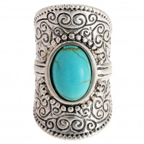 Ring Oval Turquoise - size 18