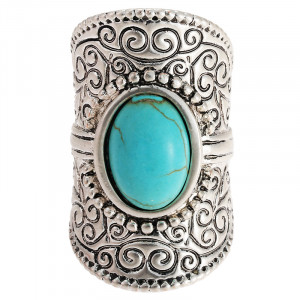 Ring Oval Turquoise - maat 18