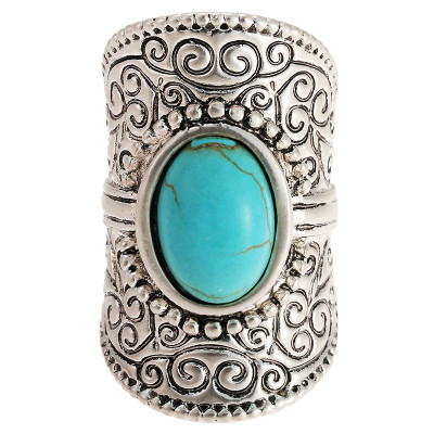 Ring Oval Turquoise - size 16