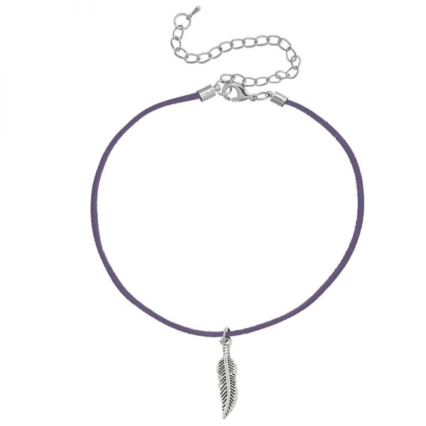 Necklace Choker Feather
