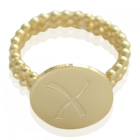 Ring Initial X - size 16