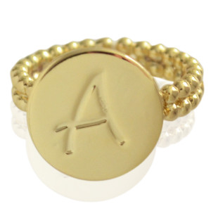 Ring Initial A - size 17