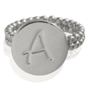 Ring Initial A - size 18