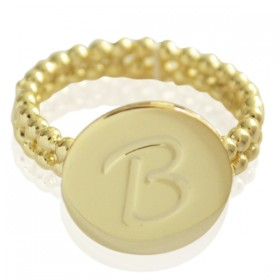 Ring Initial B - size 18