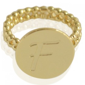 Ring Initial F - size 18