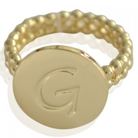 Ring Initial G - size 18