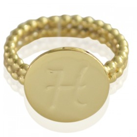 Ring Initial H - size 18