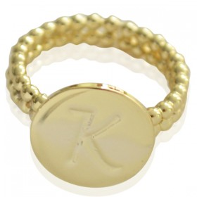 Ring Initial K - size 17