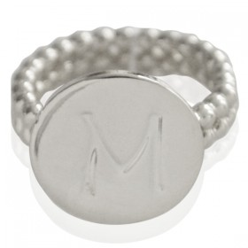 Ring Initial M - size 17
