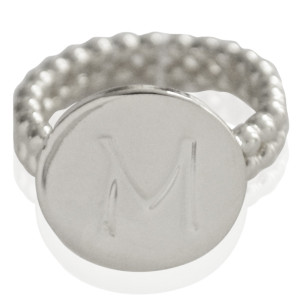 Ring Initial M - size 18
