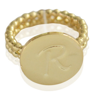 Ring Initial R - size 18