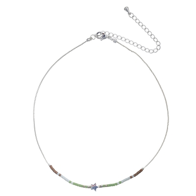 Ketting Choker Beads Star