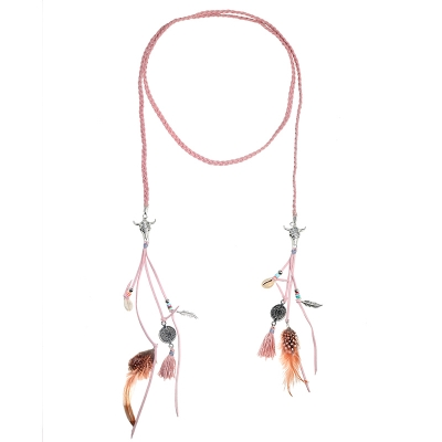 Ketting braided Feather