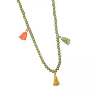 Necklace Wood & Tassels