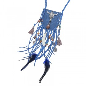 Necklace Pouch Feather