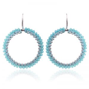 Earrings round beads