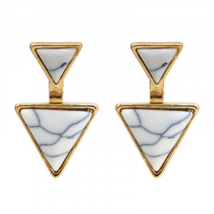 Ohrringe Marble triangle