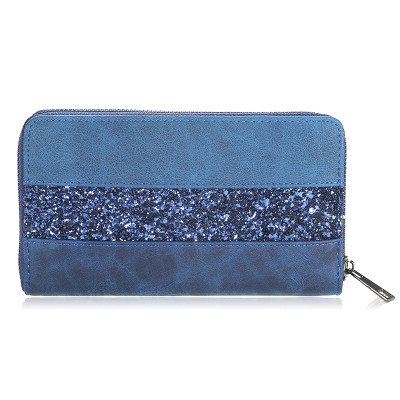 Wallet Glitter Stripes - Blue-