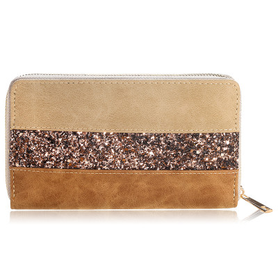 Wallet Glitter Stripes - Brown-