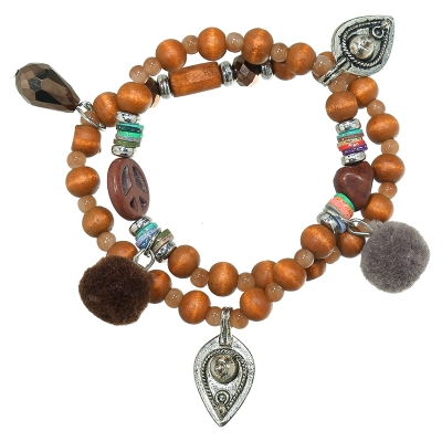 Bracelet Beadse Peace Sign