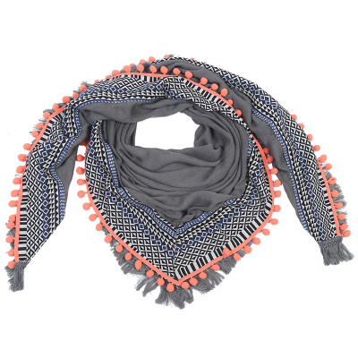 Scarf Autumn Happy Fringes