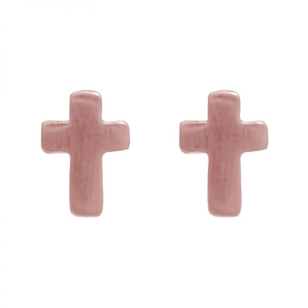 Earrings tiny cross