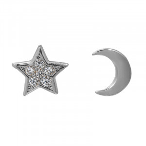Ohrringe Half Moon Star