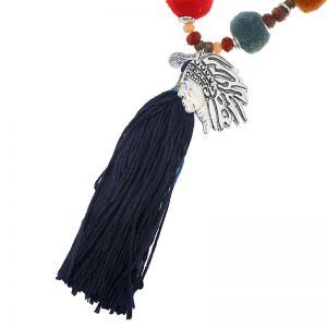 Necklace beads indian hippie