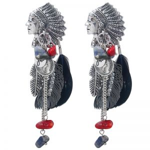 Earrings Indian Charms