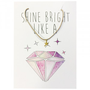 Postcard Shine Bright Like A Diamond
