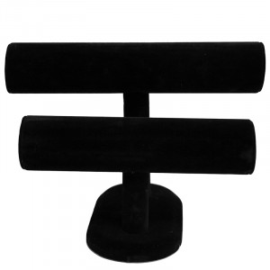 Bracelets display 2 rows -black-